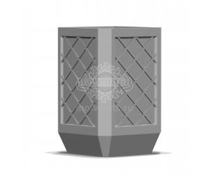 001000 - Уличная урна бетонная со вставкой