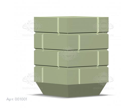 001001 - Уличная урна бетонная со вставкой