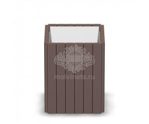 001103 - Уличная урна деревянная со вставкой