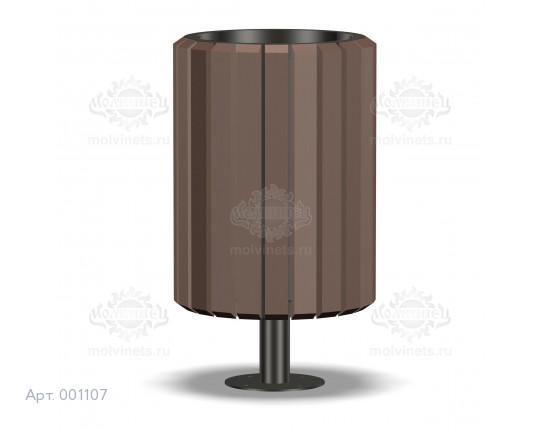 001107 - Урна деревянная со вставкой