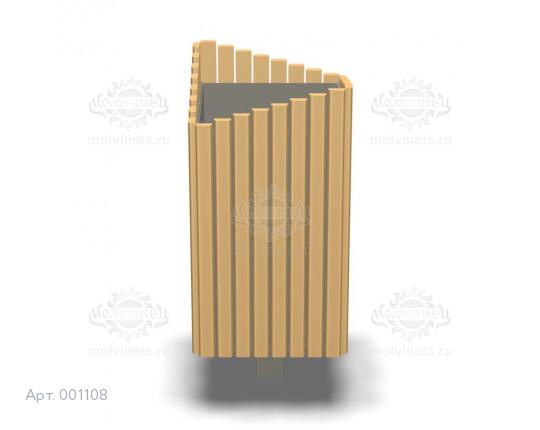 001108 - Урна деревянная со вставкой
