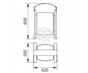 001200 - Уличная урна металлическая