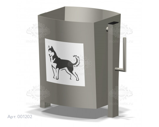 001202 - Урна металлическая для собак