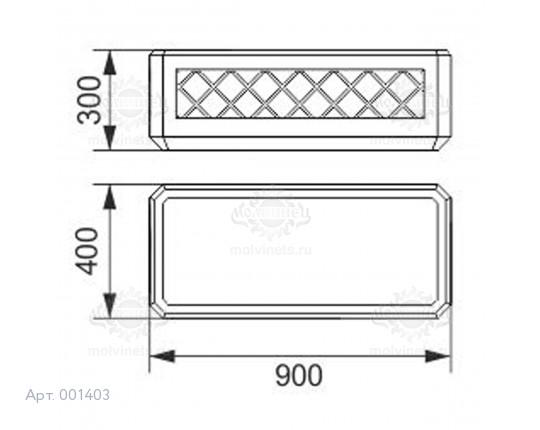 001403 - Вазон бетонный
