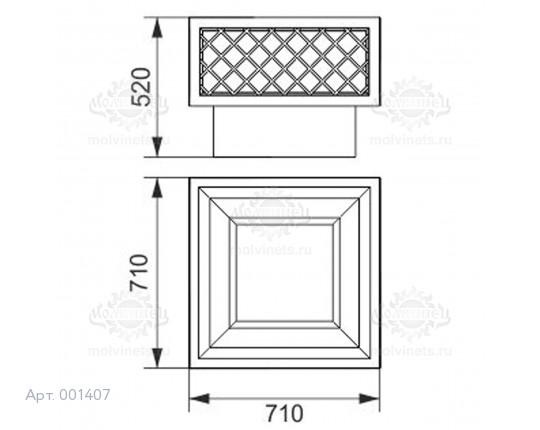 001407 - Вазон бетонный