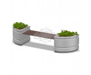 001411 - Вазоны бетонные со скамьей