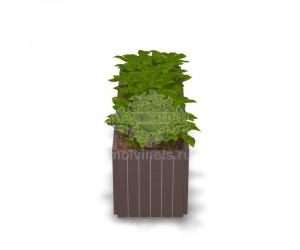 001414 - Вазон деревянный