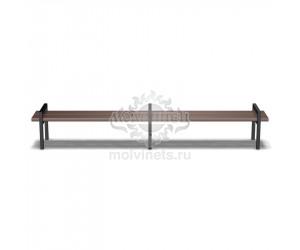 002003 - Скамья металлическая без спинки