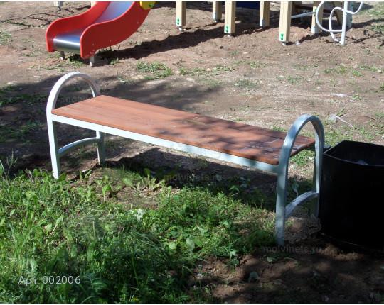 002006 - Скамья металлическая без спинки