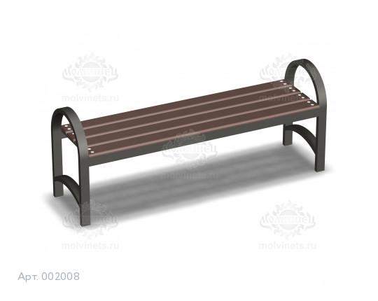 002008 - Скамья металлическая без спинки