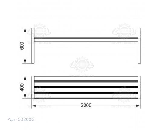 002009 - Скамья металлическая без спинки