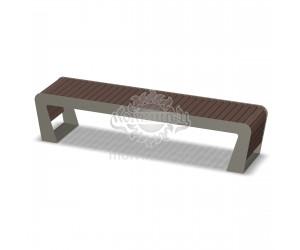002010 - Скамья металлическая без спинки