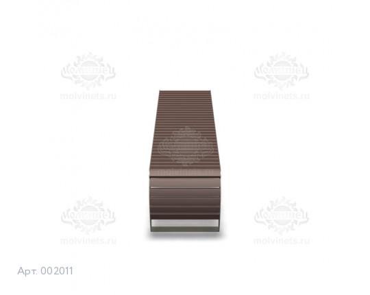 002011 - Скамья металлическая без спинки