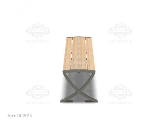 002015 - Скамья металлическая без спинки
