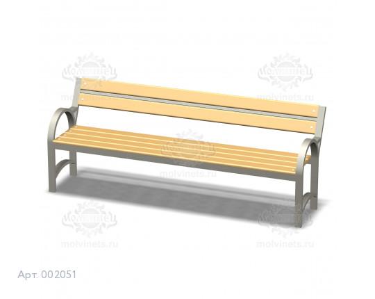 002051 - Скамья металлическая со спинкой