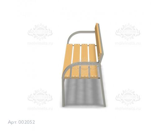 002052 - Скамья металлическая со спинкой