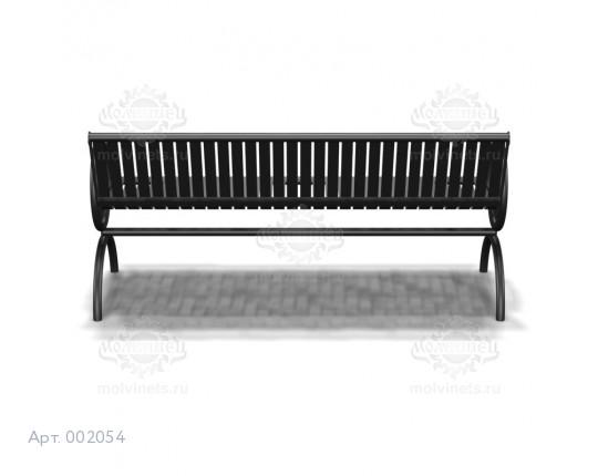002054 - Скамья металлическая со спинкой