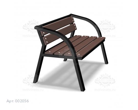 002056 - Скамья металлическая со спинкой