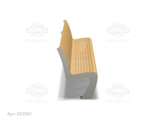 002061 - Скамья металлическая со спинкой