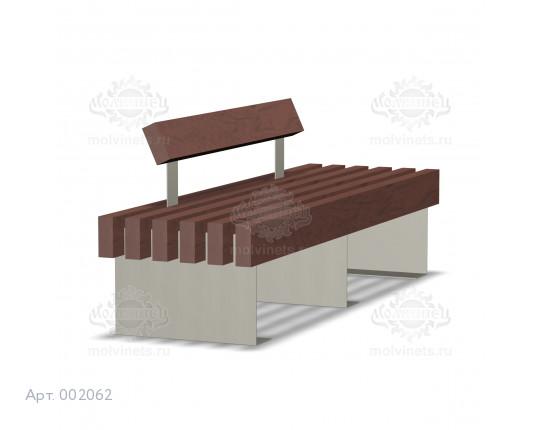 002062 - Скамья металлическая со спинкой