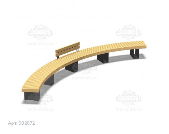 002072 - Скамья металлическая со спинкой
