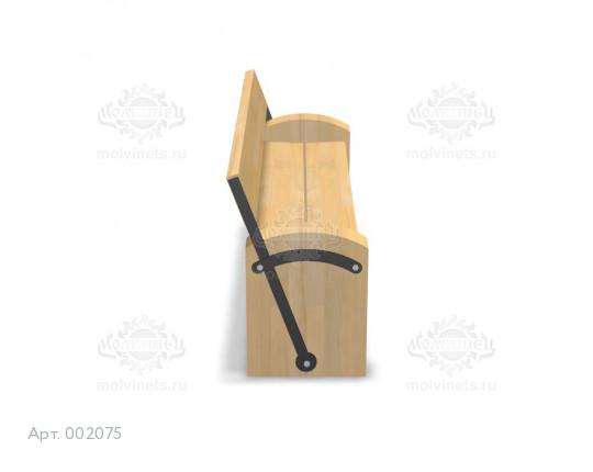 002075 - Скамья с поворотной спинкой