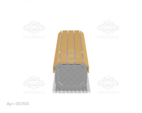 002100 - Скамья бетонная без спинки