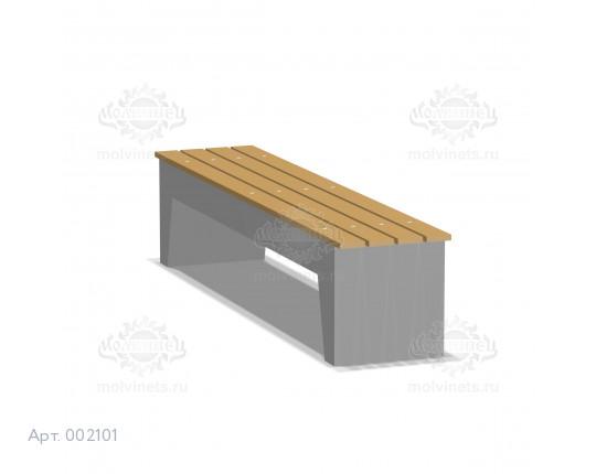 002101 - Скамья бетонная без спинки
