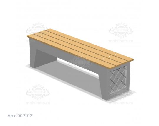 002102 - Скамья бетонная без спинки