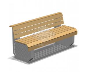 002150 - Скамья бетонная со спинкой