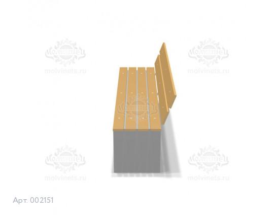 002151 - Скамья бетонная со спинкой
