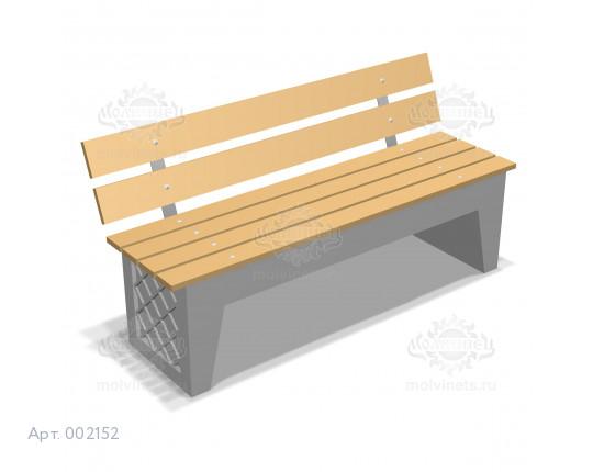 002152 - Скамья бетонная со спинкой