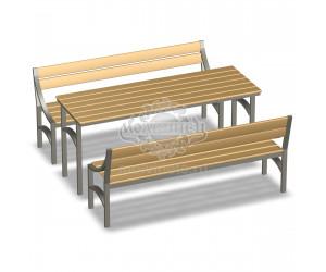 002200 - Стол со скамьями