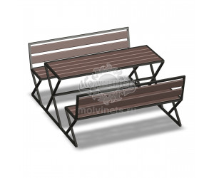 002201 - Стол со скамьями