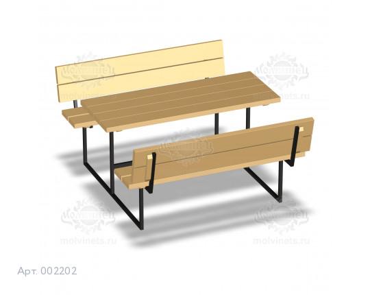 002202 - Стол со скамьями