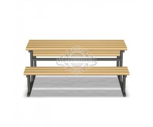 002204 - Стол со скамьями