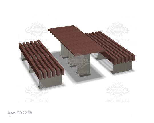 002208 - Стол со скамьями