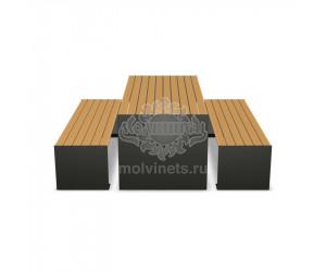 002210 - Стол со скамьями