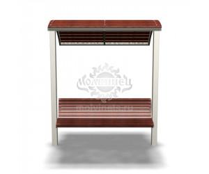002300 - Скамья металлическая с навесом
