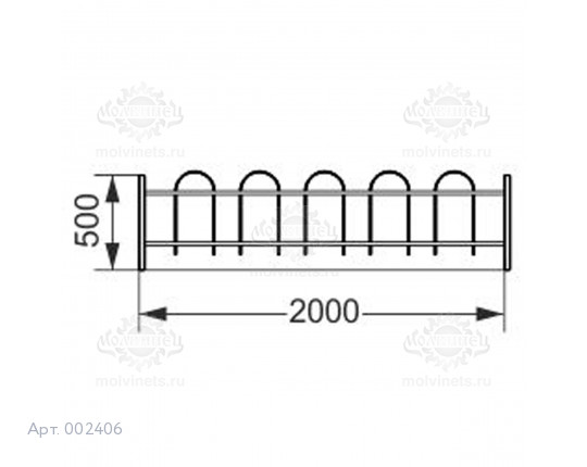 002406 - Ограждение металлическое