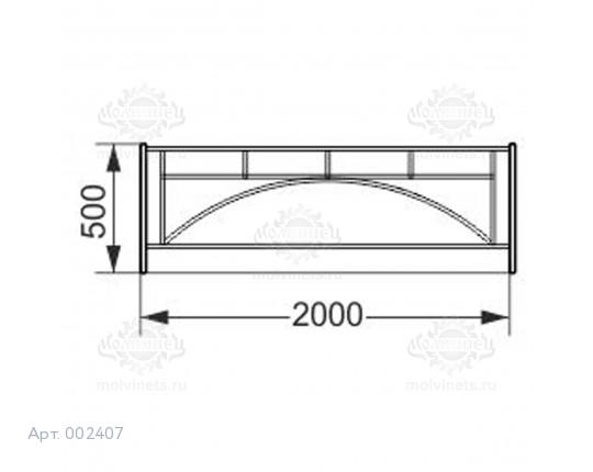 002407 - Ограждение металлическое