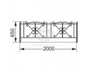 002408 - Ограждение металлическое
