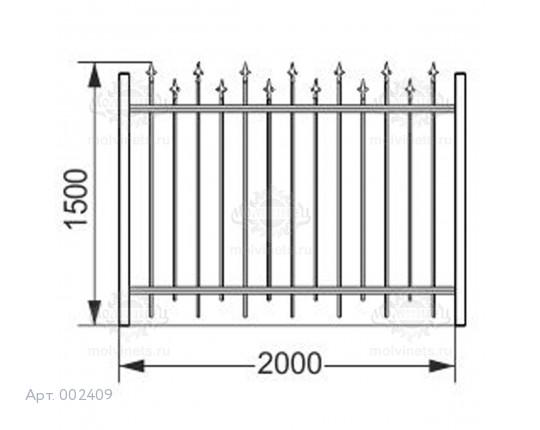 002409 - Ограждение металлическое