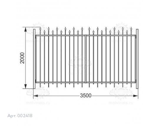 002418 - Ворота распашные