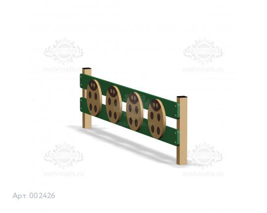 002426 - Забор для игровой площадки (секция + 1 столб)