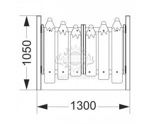 002428 - Калитка распашная