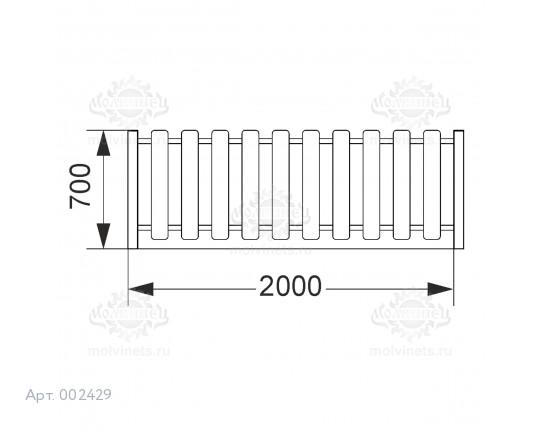 002429 - Ограждение фанерное с металлическими столбами (секция + 1 столб)
