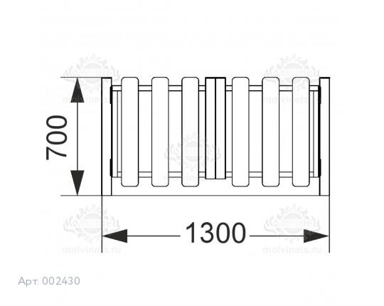 002430 - Калитка распашная