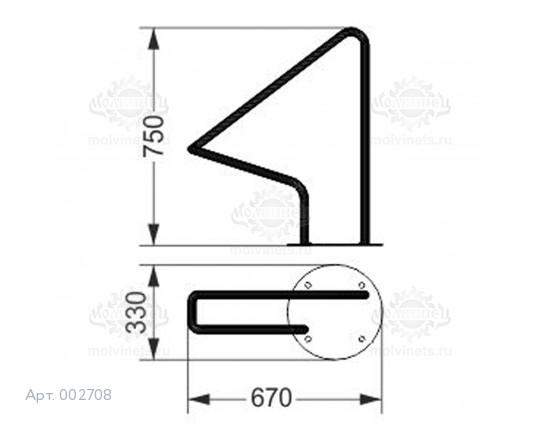 002708 - Велопарковка одноместная