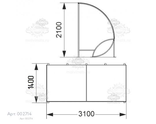 002714 - Парковка для колясок на 4 места